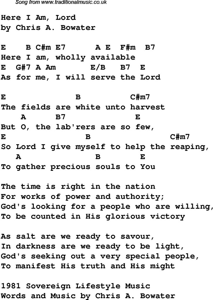 Guitar Chords To Here I Am To Worship Via All About Guitar Flickr