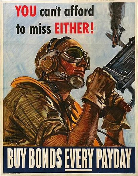 World War II Poster - Buy Bonds Every Payday