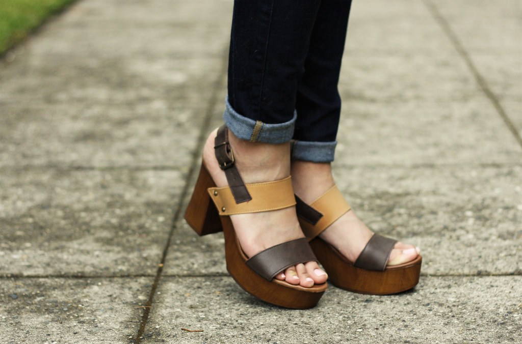 brown clogs, easy tow ear mules