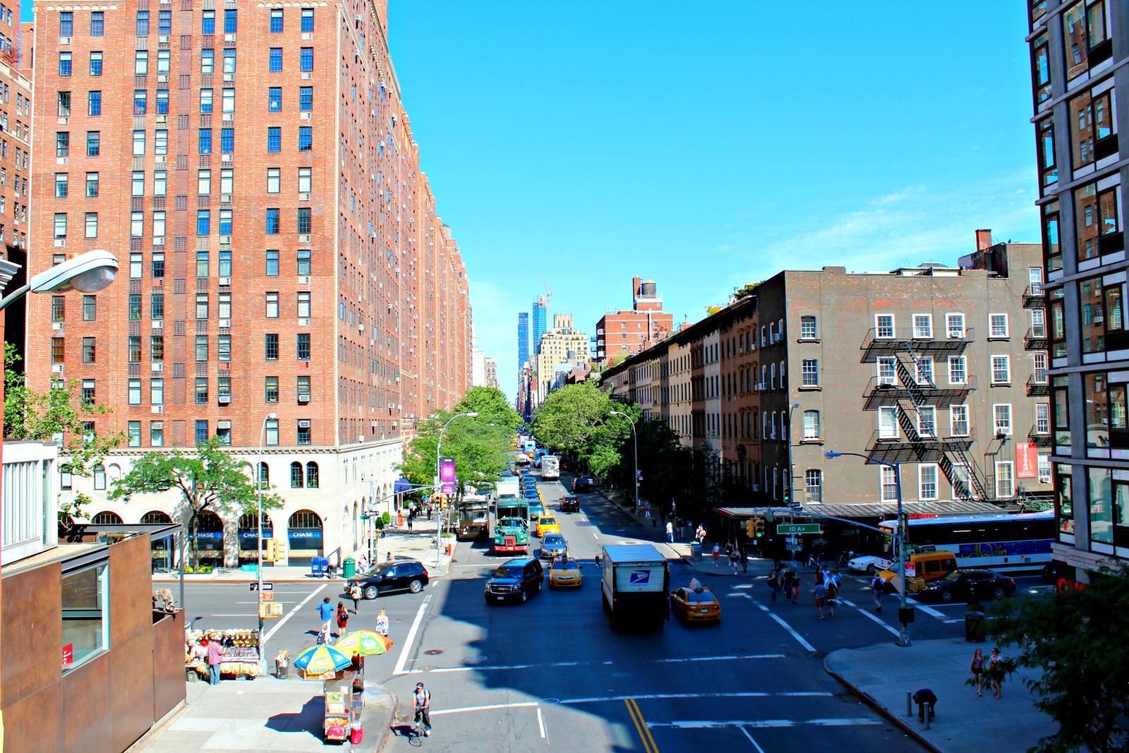 Kuva New Yorkin Highline- kävelyreitiltä Manhattanilta