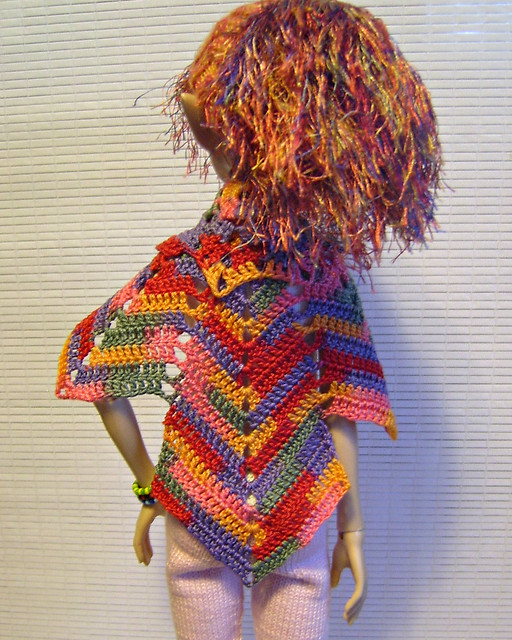 Chestnut Shawl - Back