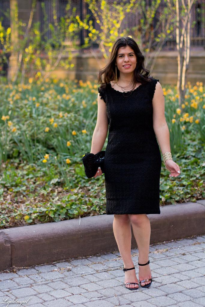 little black dress, lace, sequin clutch.jpg