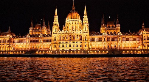Glowing Hungarian Parliament Hall