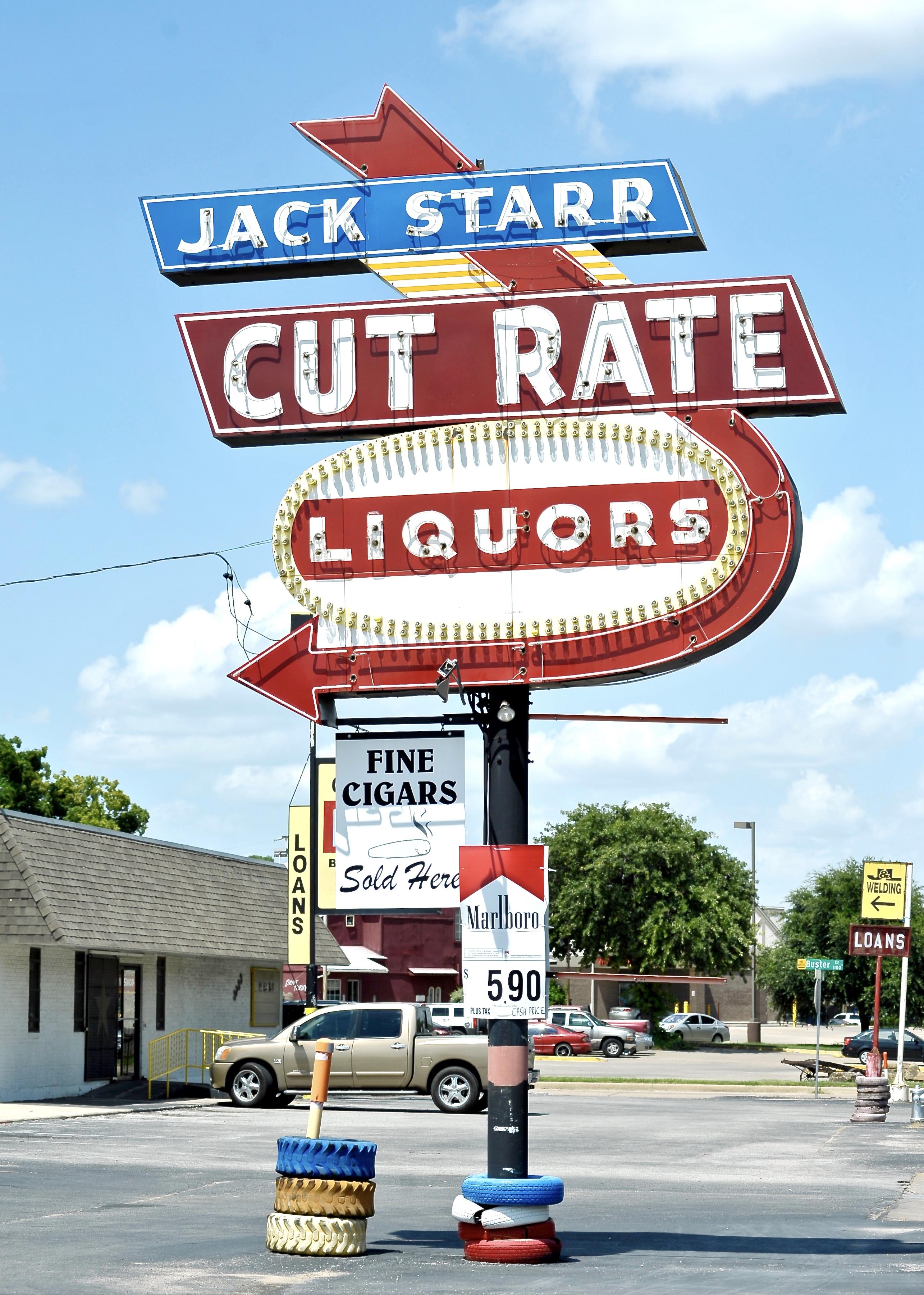 Jack Starr Cut Rate Liquors - 3725 East Belknap Street, Fort Worth, Texas U.S.A. - June 22, 2016