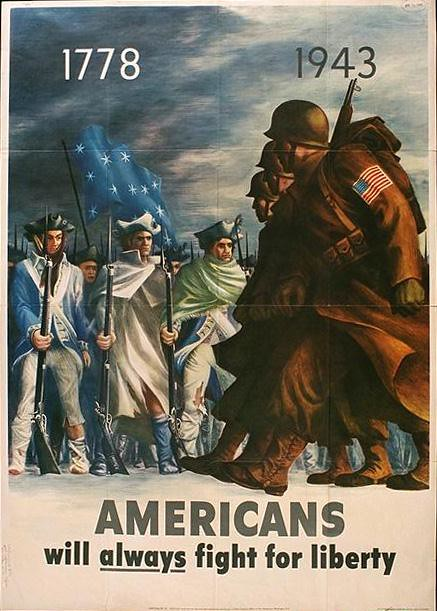 World War II Poster - Americans will always fight for liberty
