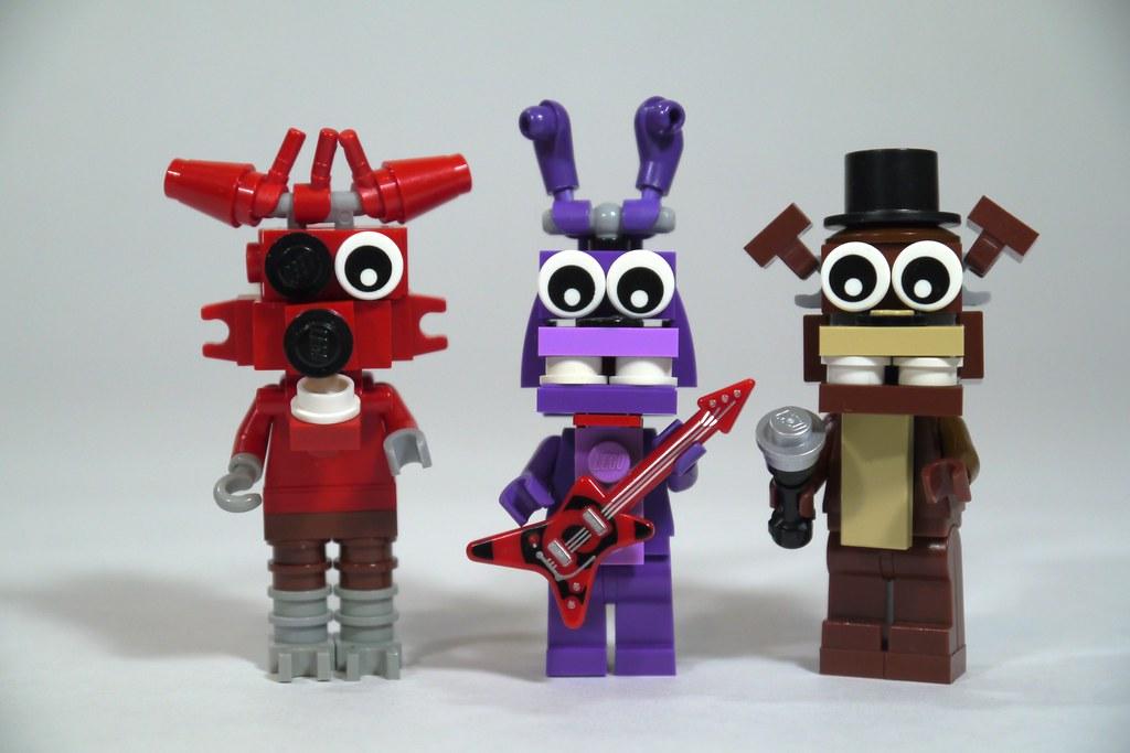 Lego fnaf foxy bonnie amp freddy see how to build it www