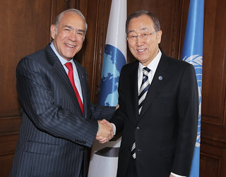 UN Secretary-General Ban Ki-moon visits the OECD
