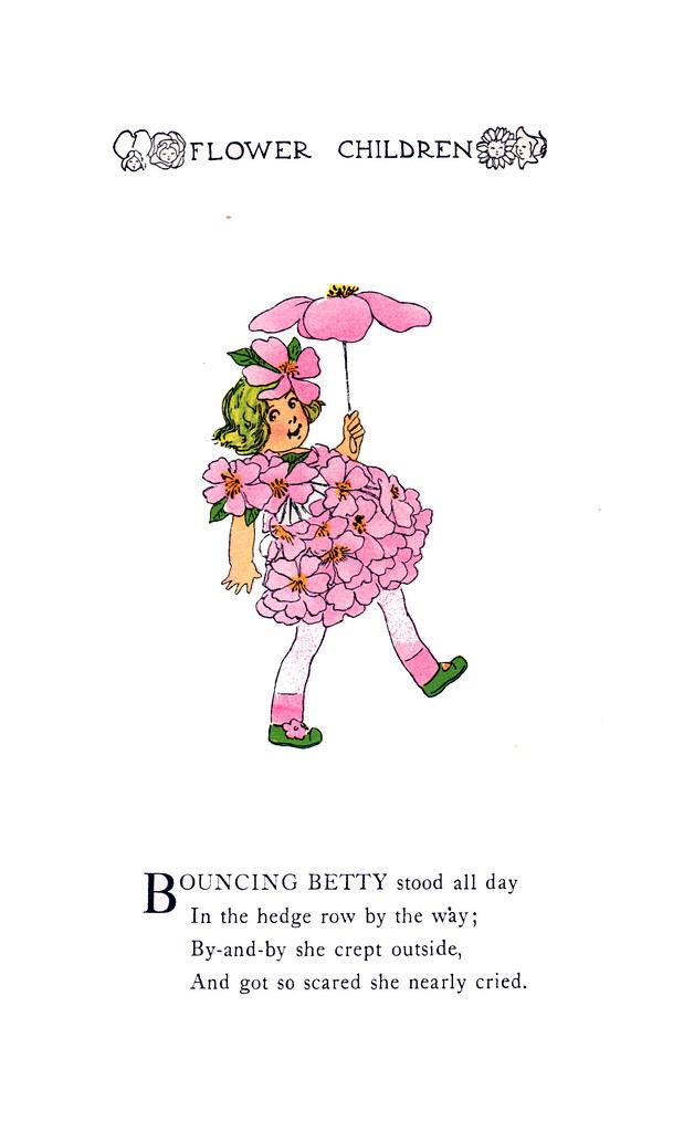 Bouncing Betty Flower Children By Elizabeth Gordon And