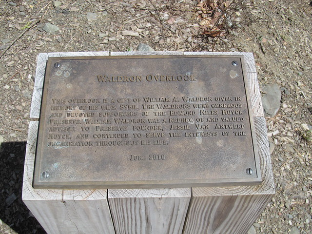 Plaque at the overlook