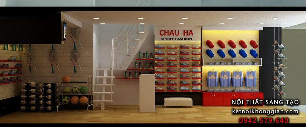thiết kế cửa hàng shop thể thap chất lượng cao, trẻ trung