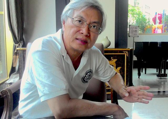 前立委、國立台灣海洋大學海洋事務與資源管理研究所教授邱文彥。攝影:林倩如。