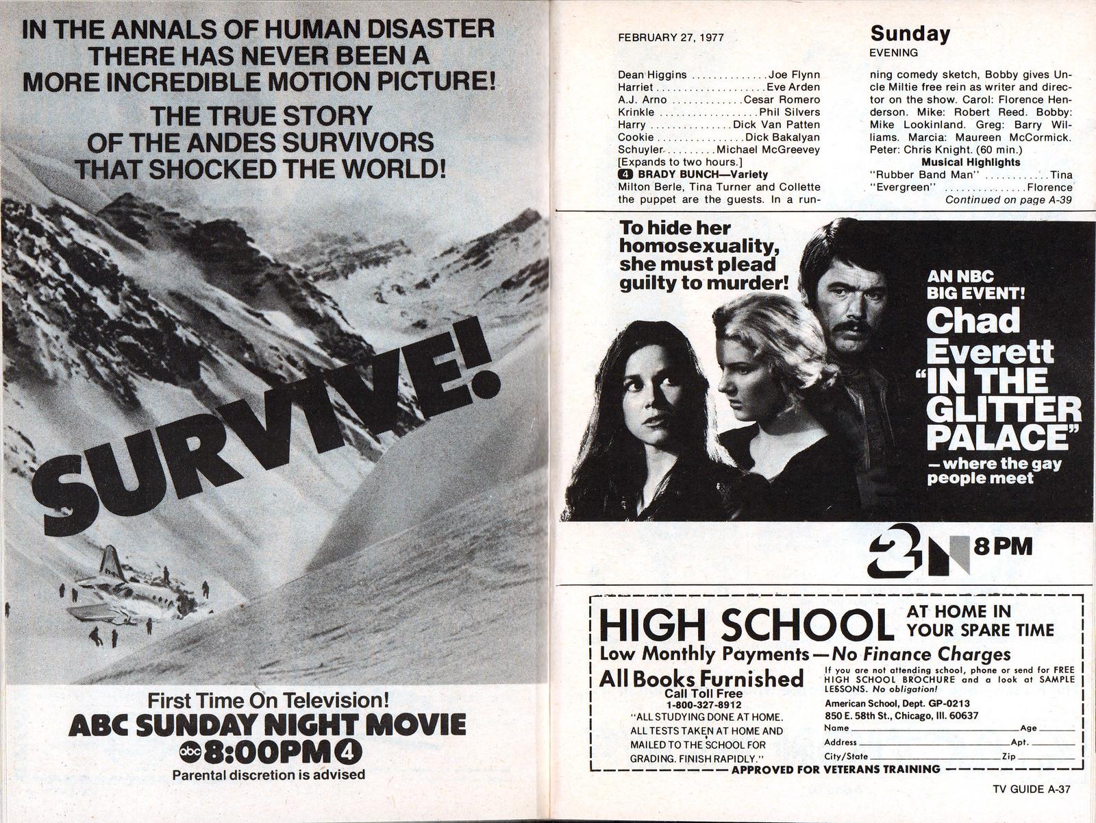 Retrospace: TV Guide #15: Feb  26- Mar 4, 1977