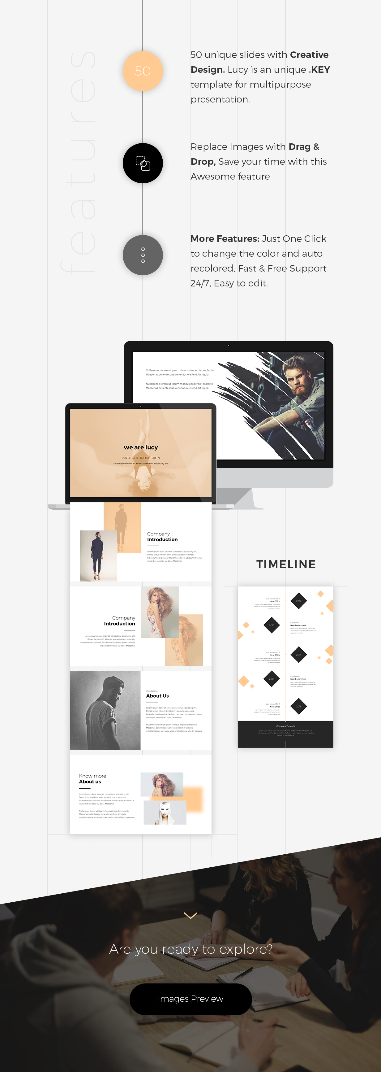 Lucy - Creative Keynote Template