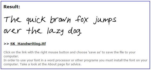 MyScriptFont Handwriting Font Creator | shirley shirley bo birley Blog