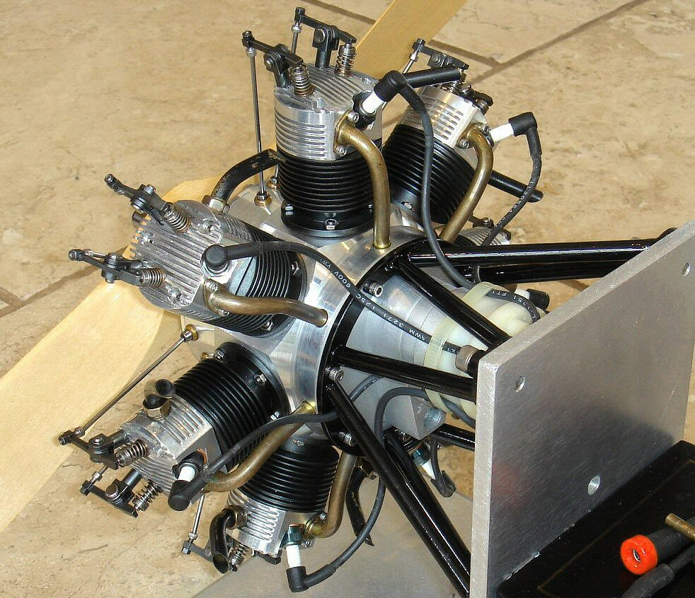 JEMMA 7 Cylinder Radial Engine Built By Bob Haagenson, CA