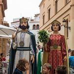 Santa Tecla 2014 - Cercavila gegants i cabeçuts infantils