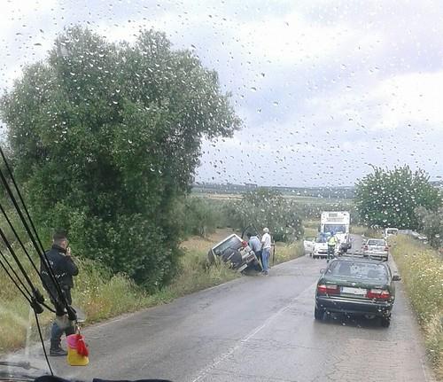 AionSur 26782711171_5fff909d6f_d Un vecino de Arahal resulta herido en un nuevo accidente registrado en la carretera Arahal/Morón Sucesos