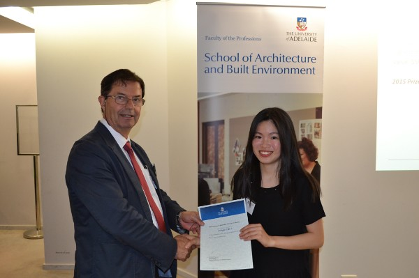2015 Winner: Isabelle Chua - Presented by Prof George Zillante (Head of School)
