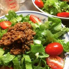 spicy pork noodle salad❤︎  #spicypork #noodles #salad #japan