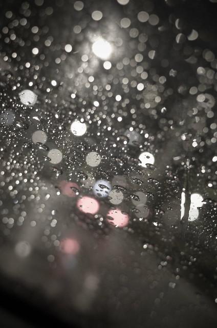 dim night rain