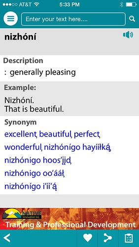 Nizhoni = That is beautiful