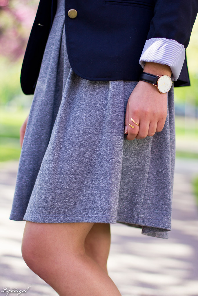 grey sweatshirt dress, navy blazer, white converse-8.jpg