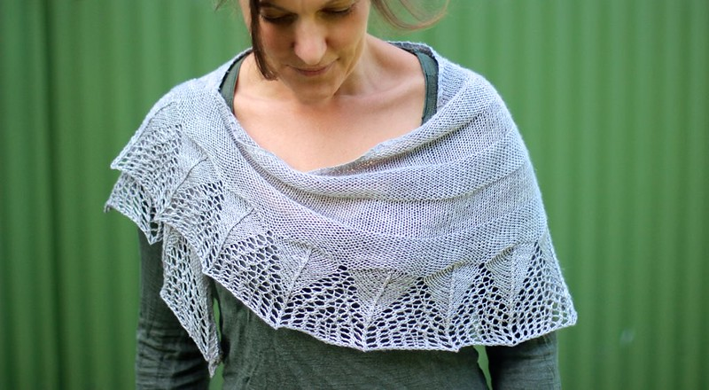 Southern Shawl designed by Libby Jonson for Truly Myrtle. Pattern available on Ravelry.