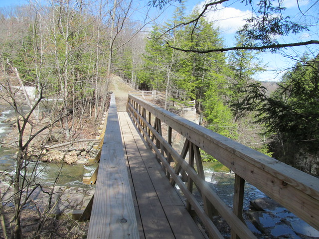 Bridge over Rensselaerville Falls