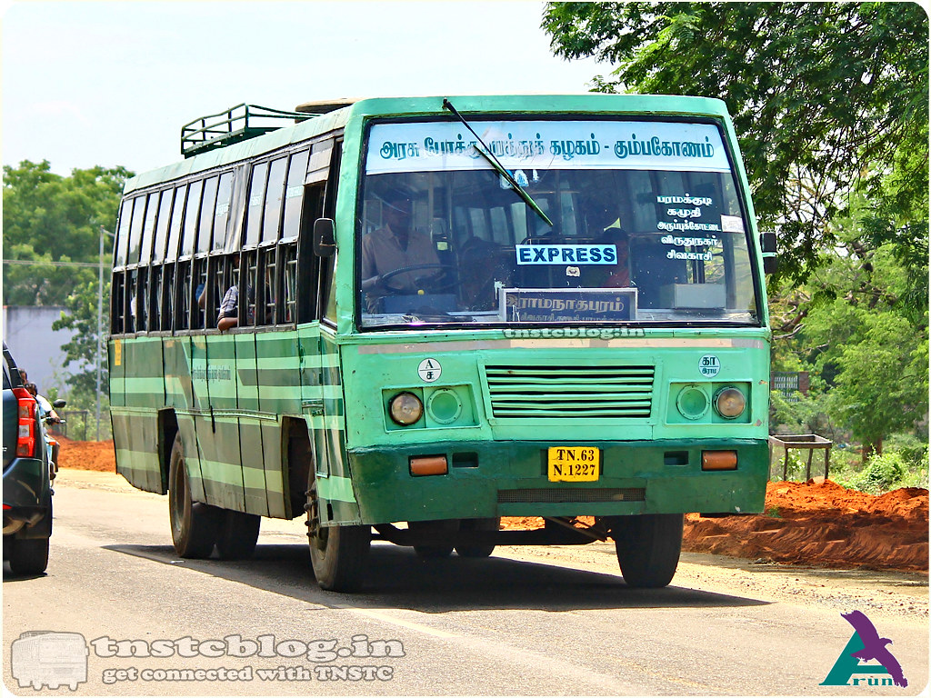TN-63N-1227  Ramanathapuram Depot Ramanathapuram - Rajapalayam via Paramakudi, Kamuthi, Aruppukottai, Virudhunagar, Sivakasi, Srivilliputtur.