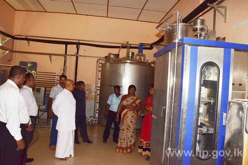 Governor visited Vavuniya Shasthrikulam Milk Chilling Centre
