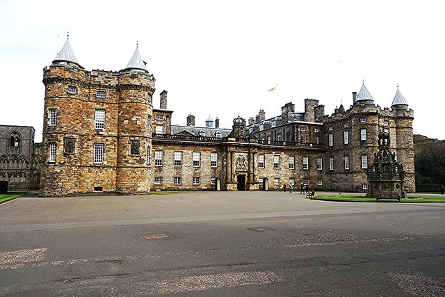 Front elevation at Palace of Holyroodhouse, Edinburgh.