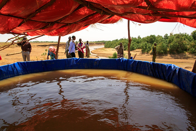 Water purification site in Ber'aano Woreda by Shebele River in Somali region of Ethiopia