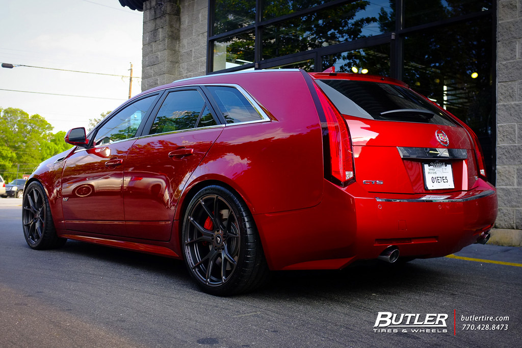 Lowered Cadillac Cts V Wagon With In Vorsteiner V Ff  Flickr
