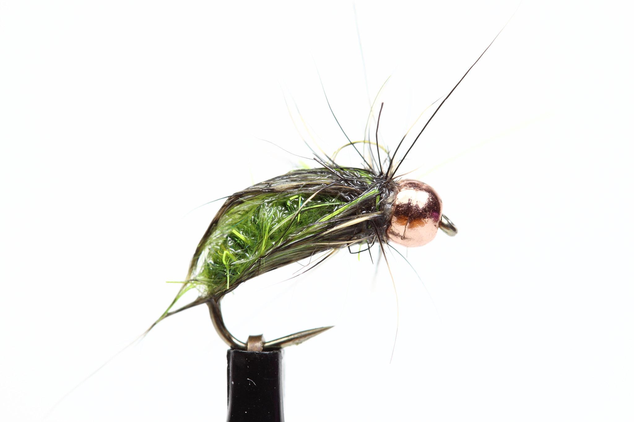 Caddis green scruffing dubbing JP Pupa