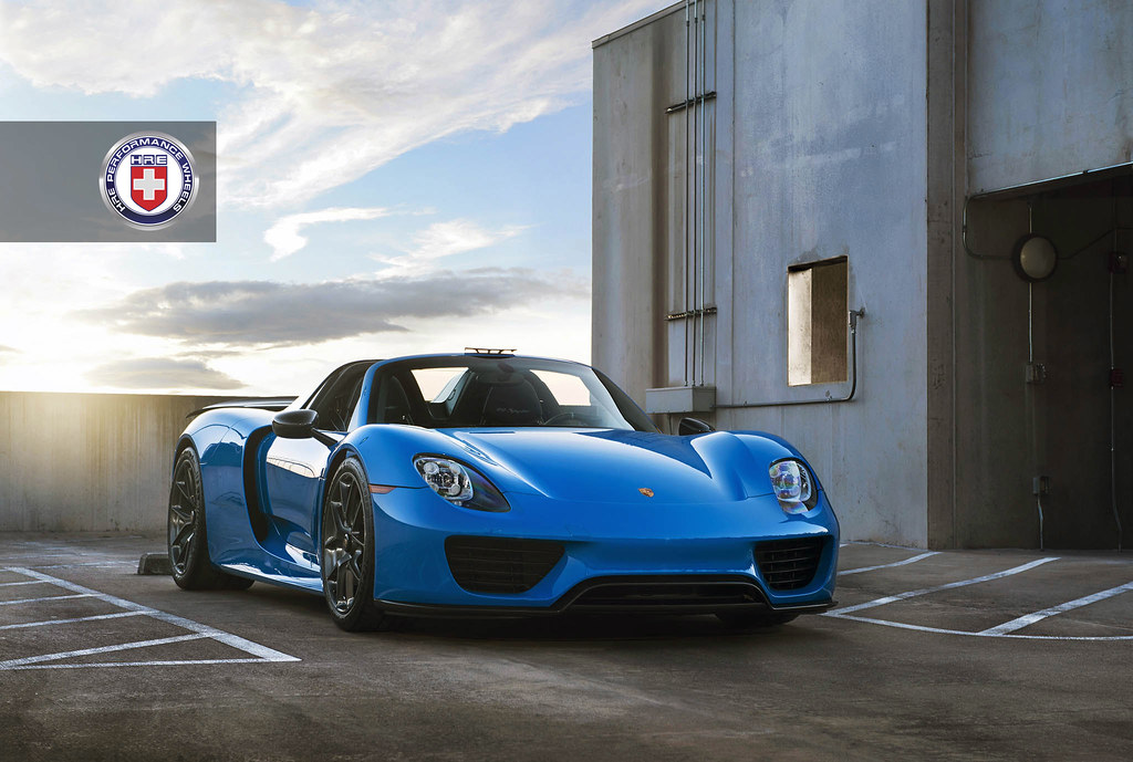 voodoo blue porsche 918 spyder with hre p101 in brushed da flickr. Black Bedroom Furniture Sets. Home Design Ideas