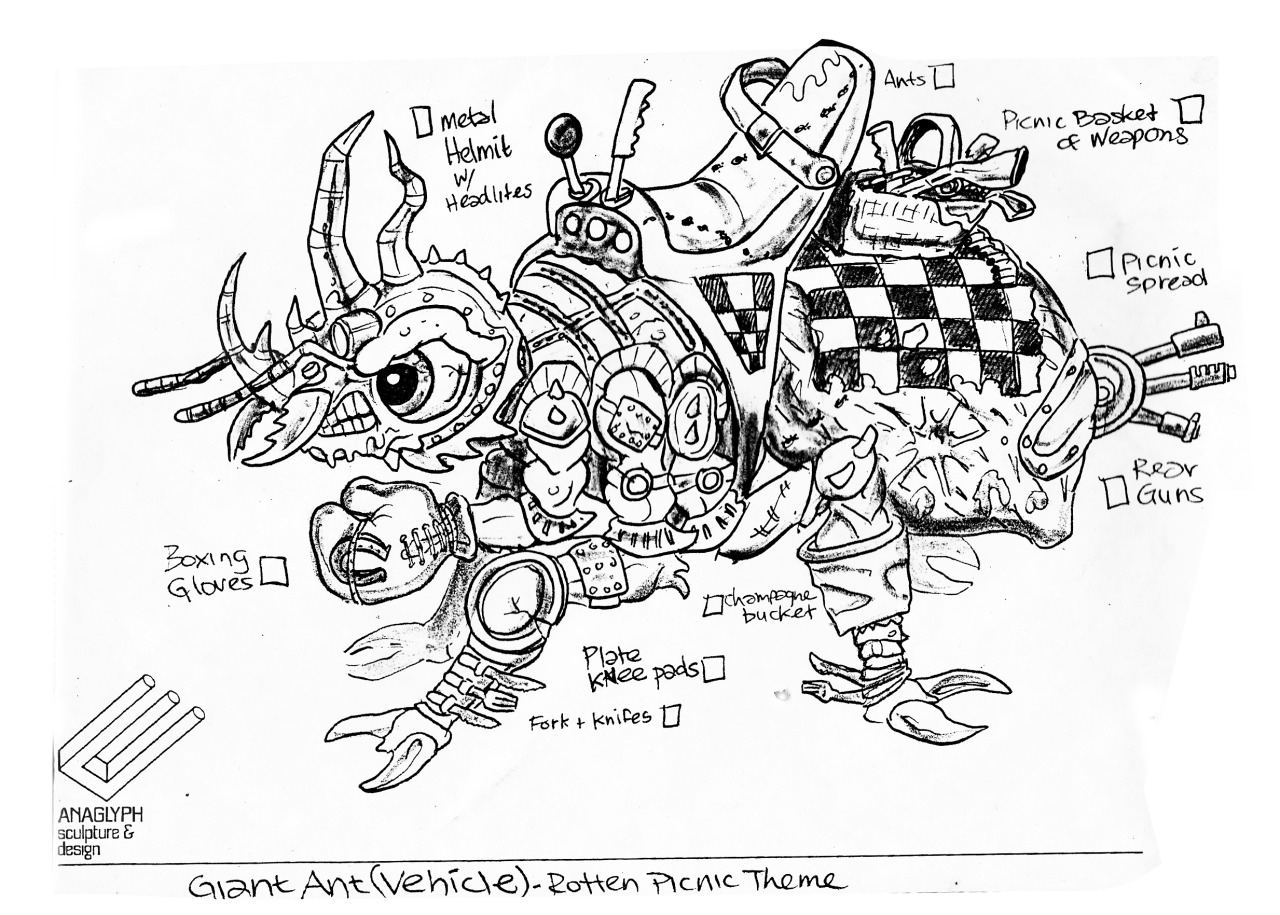 "tumblr_nlnoouQ8AR""MEGA MUTANTS"" TEENAGE MUTANT NINJA TURTLES :: ""ARMY ANT"" / ..unreleased M.M. toy - Ant design v, Rotten Picnic Theme (( 1990 ))  [[ Art and courtesy of D. Arshawsky ]]"