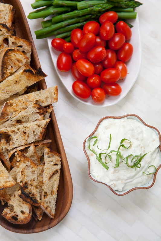 Whipped Goat Cheese Dip with Caramelized Onions