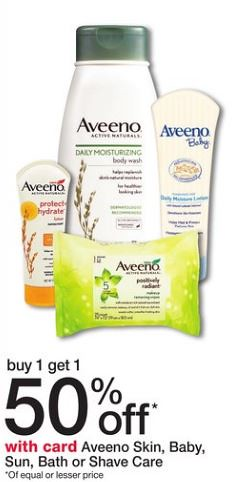 great deal on Aveeno products at Walgreens with Coupons