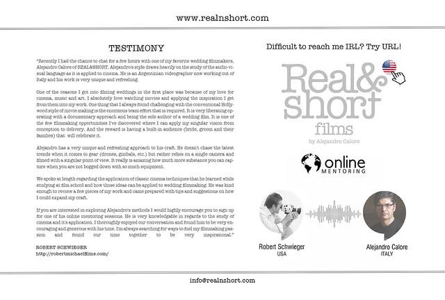 REAL&SHORT Online Mentoring with Robert Schwieger