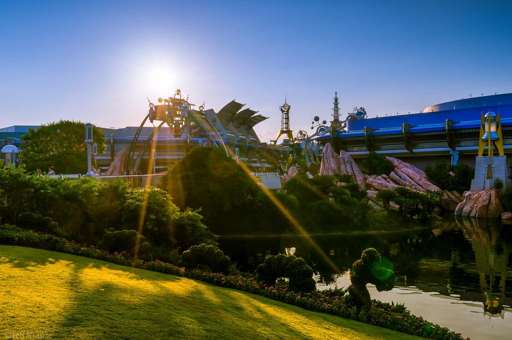Magic Kingdom - Sunrise over Tomorrowland | Jeff Krause | Flickr