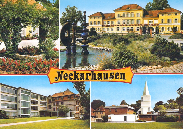 Neckarhausen Ansichtskarte alt 1970er-Jahre