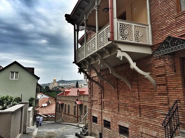 Balcones típicas de Tbilisi (Georgia)