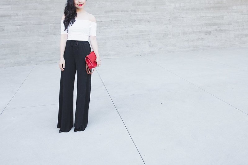 high waisted pants crop top