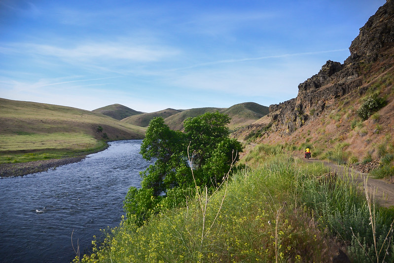 bicycle touring on Weiser River Trail in Idaho