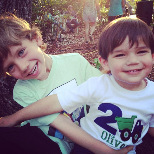 Cousins: Finn and Oliver (who just turned two!)