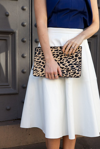 What to wear: Leopard print clutch