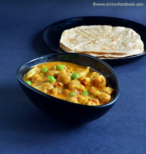Cauliflower kurma for rice
