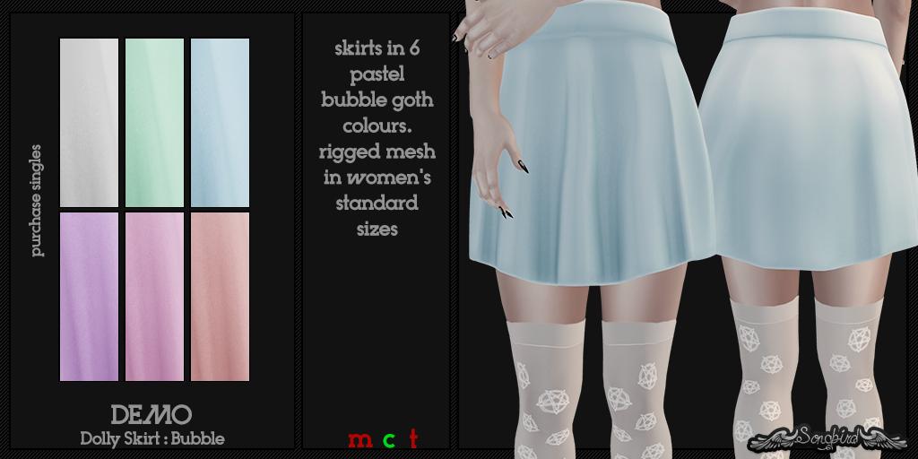 ~SongBird~ Dolly Skirt : Bubble