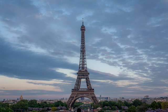 The Eiffel Tower seen from Trocadero, Paris