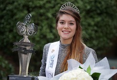 Hannah Greally, representing the Hutt Valley Irish Society after being selected as the 2016 PBT New Zealand Rose of Tralee